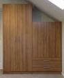 Wardrobe in Cappuccino Cherry Finish