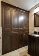Linen Cabinet in Chocolate Pear Tree Finish