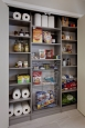 Pantry Closet in Brushed Grey Finish