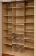 Pantry Closet in Presige Maple Finish