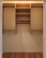 Reach In Closet in Prestige Maple Finish