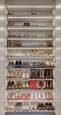 Custom Shoe Cabinet in Viva Winter Fun Finish
