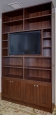 Bookcase in Ruby Planked Maple Finish