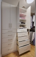 White Chocolate Closet Built-Ins