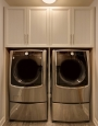 Laundry Room in White Chocolate Finish