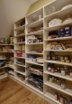 Pantry Closet in White Chocolate Finish