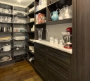 Pantry Closet in Dark Chocolate Finish