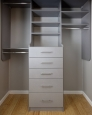 Reach In Closet in Brushed Grey Finish
