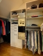 Reach In Closet in Ivory Finish with Pull Out Mirror