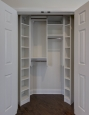 Coat Closet in White Finish