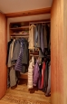 Coat Closet in Cherry Finish